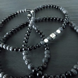 COLLIER MIXTE ONYX