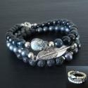 LADY BONNY bracelet femme 3 rangs
